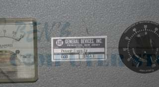 General Devices 120v AC   12v DC Power Supply Model 608