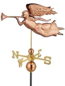 Good Directions Angel Weathervane Polished Copper