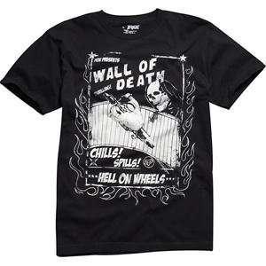 Fox Racing Wall of Death T Shirt   X Large/Black