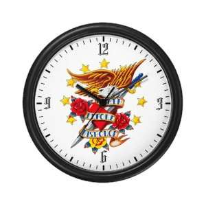 Wall Clock Bald Eagle Death Before Dishonor: Everything