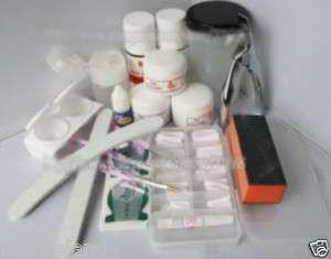Acrylic Nail Art Professional Full Kit Set Powder Tips