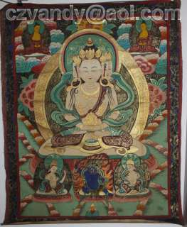 Wonderful Old Tibet ThangkaBuddha of Eternal Life 52
