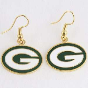 Green Bay Packers Logo Wire Earrings: Sports & Outdoors