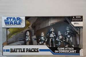 Star Wars Legacy Battle Packs Clone Attack on Coruscant NEW