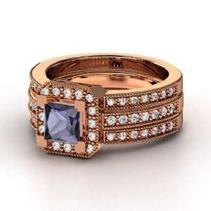 Va Voom Ring, Princess Iolite 14K Rose Gold Ring with