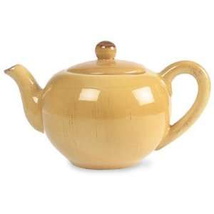 Ceramiche Alfa Ital Earthenware Honey Gold Teapot: Kitchen