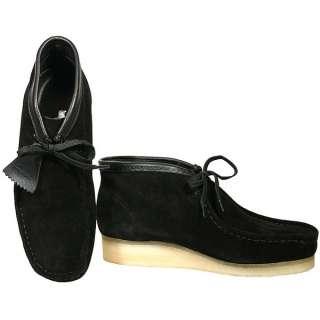 Clarks Mens Originals Wallabee Black Suede Boots