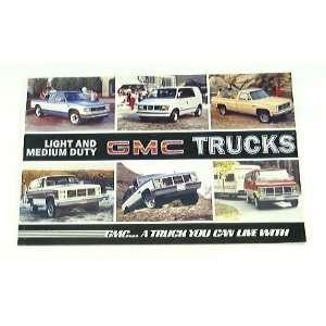 1985 85 GMC TRUCK BROCHURE Sierra Pickup Safari Vandura