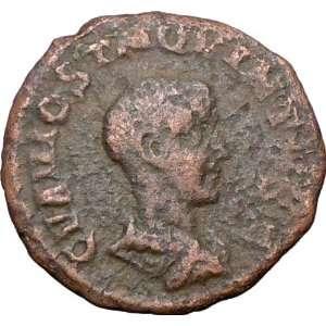 VIMINACIUM 251AD Authentic Ancient Roman Coin LEGIONS BULL LION rare