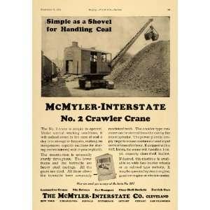 Crawler Crane Shovel Coal   Original Print Ad: Home & Kitchen