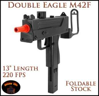 Double Eagle M42F MAC10 Replica Airsoft Gun Spring Action 220FPS UZI