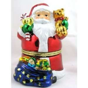 MR CHRISTMAS SANTA ANIMATED MUSIC BOX W/ BAG NIB