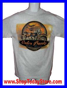 Shirt L   Outer Banks Motorcycle Biker Chopper Short Sleeve Men