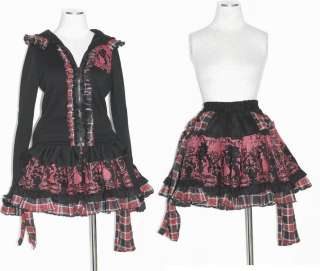 Kera Shop Lolita Kera VISUAL KEI PUNK GOTHIC NANA Bow Pattern SKIRT