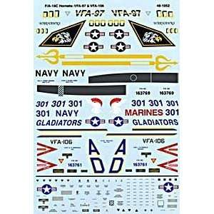 F/A 18 C Hornet: VFA 97, VFA 106 (1/48 decals): Toys