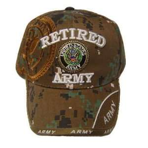 USA US ARMY SEAL RETIRED VETERAN DIGITAL CAMO CAP HAT