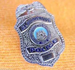 ALBUQUERQUE NEW MEXICO NM PROUD SILVER EAGLE MINI LAPEL POLICE BADGE