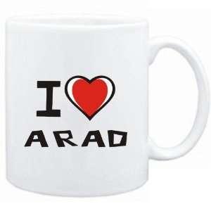 Mug White I love Arad  Cities