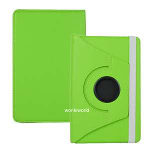 Kindle Fire 360° Rotating Leather Cover Case w/ Swivel Stand