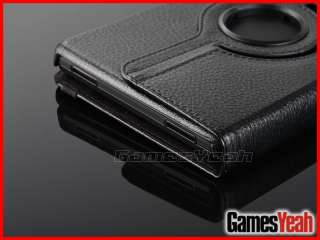 Kindle Fire Rotating Leather Case/Car Charger/USB Cable