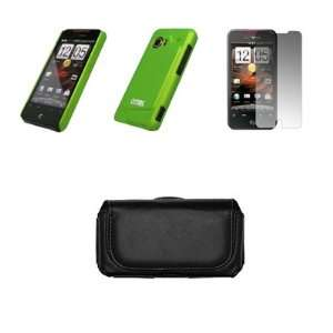 HTC Droid Incredible Premium Black Leather Carrying Case