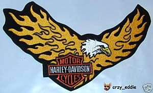 HARLEY DAVIDSON FLAMING EAGLE PATCH *RETIRED DESIGN*