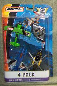 NEW MATCHBOX SKY BUSTERS MBX METAL AIRCRAFT 4 PACK