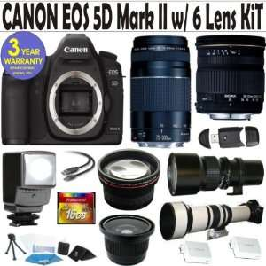Canon EOS 5D Mark II 6 Lens Deluxe Kit with Sigma 28 70 F2.8 4 DG Lens