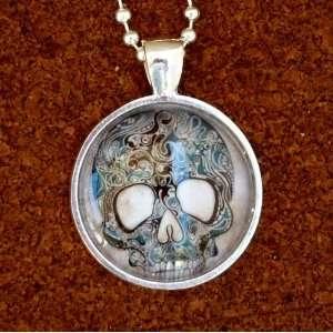 SKULL anatomical pendant charm goth pendant Necklace Sugar Skull Day