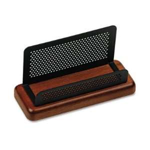 Rolodex Distinctions Wood/Metal Business Card Holder