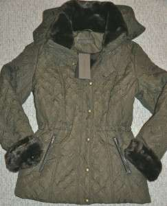 Andrew MARC NEW YORK Womens quilted Coat Jacket New green Size Large L