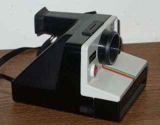 Vintage Polaroid Rainbow Instant Camera with Flash Bar Attachment