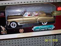 1949 CADILLAC COUPE DEVILLE 118 SCALE DIECAST GOLD