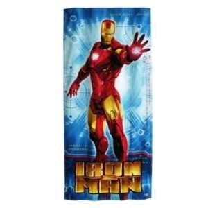 Marvel Iron Man 2 Beach and Bath Towel 30 X 60 Inch Avengers Assemble