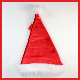 Disney Mickey Mouse and Friends Kids Red Velour Christmas Santa Hat