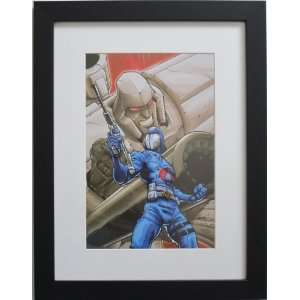 GI JOE vs. TRANSFORMERS ~ 8 X 12 ART PRINT (FRAMED at 12