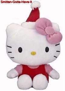 SANRIO 50th Ann NEW Hello Kitty Santa HAT PLUSH Doll Great Gift Idea
