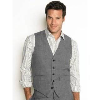 Banana Republic Mens Gray Grey Herringbone Suit Vest
