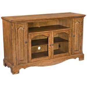 Country Casual Oak Finish Entertainment Credenza: Home