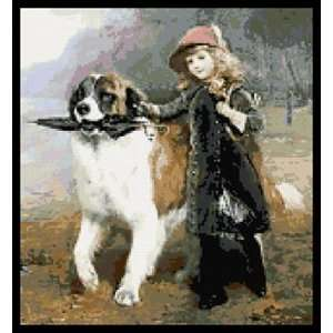 Off to School with St Bernard Counted Cross Stitch Kit