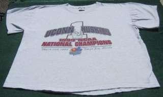 UCONN HUSKIES 1999 NCAA Basketball Champions XL T SHIRT
