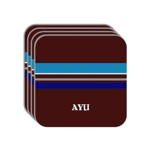 Personal Name Gift   AYU Set of 4 Mini Mousepad Coasters