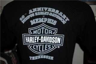DAVIDSON MOTORCYCLE T SHIRT MEMPHIS, TN Sz L  IN TH U.S