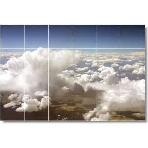 Clouds Scene Shower Tile Mural C019  32x48 using (24) 8x8