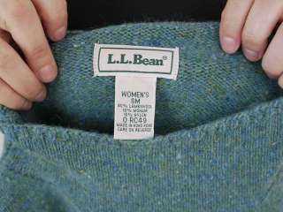 LL BEAN Wool Mohair Turtle Neck Sweater Womens SM
