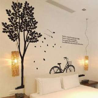 Tree&Bike Art Decor Vinyl Wall Paper Sticker Decal 233