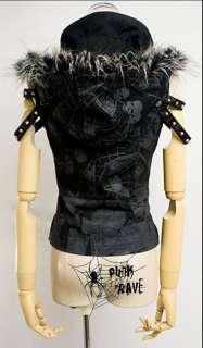 cool Visual Kei Punk Gothic Lolita Coat top vest jacket