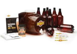 Mr. Beer Premium Edition Home Beer Brewing Kit Set Bar Accessories NEW