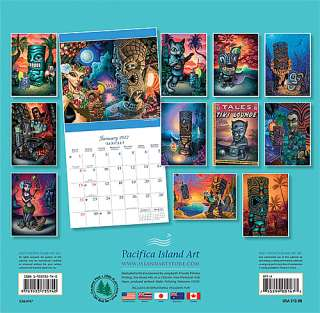 Hawaii Wall Calendar 2012 HAWAIIAN Tiki Art Brad Parker