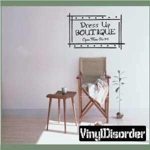Dress up BOUTIQUEvinyl Decal Wall Sticker Mural